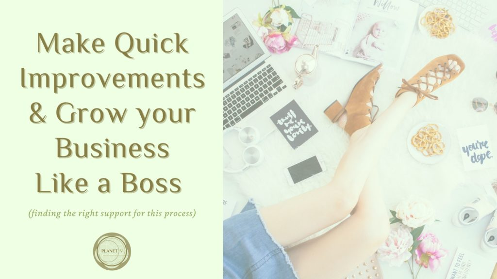 Make Quick Improvements and Grow your Business Like a Boss (finding the right support for this process).